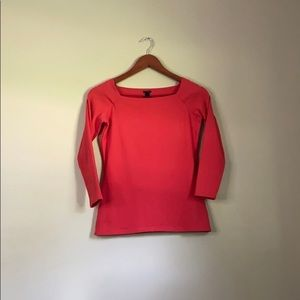 J.Crew Top Red 3/4 Sleeves Small